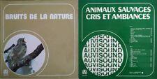 Bruits de la Nature / Animaux Sauvages Cris et Ambiance - Lot de 2 Vinyles  33T