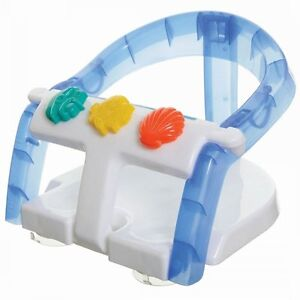 DREAMBABY FOLD AWAY BABY BATH SEAT SUPPORT - WHITE / BLUE - NEW