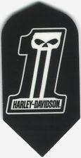 "Harley-Davidson ""1"" Slim Dart Flights: 3 per set"