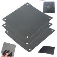 10PCS Cuttable Black PVC PC Fan Dust Filter Dustproof Case Computer Mesh 120mm