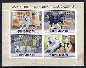 Guinea Bissau 2010 - Dogs Mastiff do Tibete Spaniel stamps perf. MNH** B308