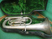 York Euphonium 1923 Silver - AS-IS SALE - Grand Rapids, MI York Case & Conn MP