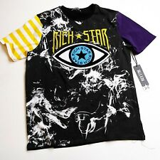 Rich Star 100%authentic mens tshirt Size large black multicolor eye star logo