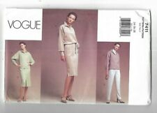 Sewing Pattern Vogue 7411 Loose Fitting Dress Top Skirt Pants Uncut 14-16-18