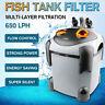 CF-600 Außenfilter 650L/H Kammerfilter Aquarium Filter Pumpe Aquarienfilter