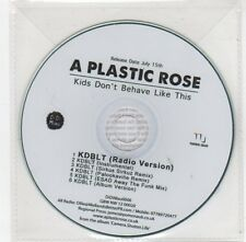 (FC215) A Plastic Rose, Kids Don't Behave Like This - DJ CD