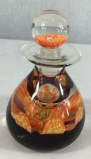 caithness glass Petal Ink Bottle (Orange & Yellow Petals)