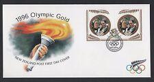 NUOVA Zelanda 1996 FDC ATLANTA OLIMPIADI Nuova Zelanda MEDAGLIA D'ORO vincitori