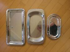 drei Edelstahl Servierplatten Vorlegeplatten versilbert WMF