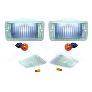 Parking Side Marker Light Kit Clear fits Jeep Wrangler TJ 1997-06 RT28015 Crown
