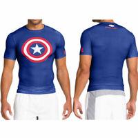 New Under Armour Men's Alter Ego Captain America compression fit T-shirt XXL 2XL