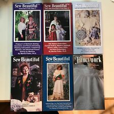 Martha Pullen Sew Beautiful Lot of Six (6) VHS Video Tapes II-VI & Fancywork
