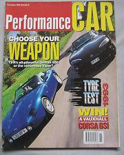 Performance Car 11/1993 featuring TVR, Viper, Audi S2, VW Corrado VR6, Porsche