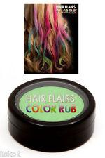 Hair Flairs Color Rub Temporary Vibrant Fun Hair Colors .14 oz. (green) LMS