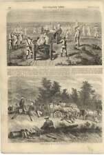 1855 Russian Convoy Crossing Steppe Gagarin Russians On The Halt Raffet