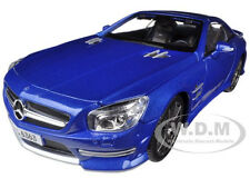 2012 MERCEDES SL 63 AMG BLUE 1/18 DIECAST MODEL CAR BY MAISTO 36199
