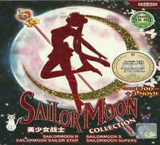 DVD Sailor Moon Complete DVD (200 Episodes + 3 Movies) + Free Gift