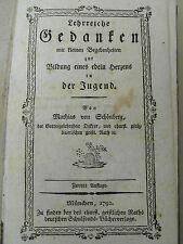 Schönberg – Lehrreiche Gedanken f. d. Jugend 1792
