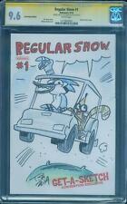 Regular Show 1 CGC SS 9.6 Hill Original art Sketch Adventure Time Kaboom no 8