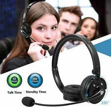 LUXMO Wireless Bluetooth Headset with Mic for Office Call Center Skype Truck NEW