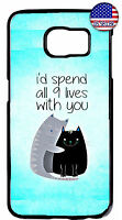 Cat Pet 9 Lives Kitty Rubber Case For Samsung Galaxy S9 S9 S8 Plus S7 Edge S5 S4