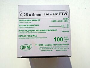 Needle for mesotherapy SFM 31G*5 mm 100 pcs