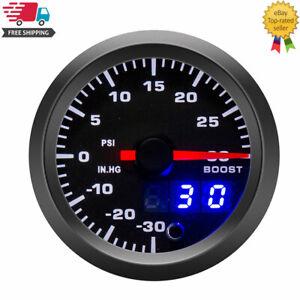 52mm 7 Colors LED Car Turbo Boost Gauge PSI Meter Analog/Digital Dual Display