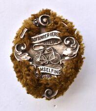 Vintage German cycling Club pin badge 1903 Gustav Deschler munchen Amselfing