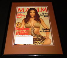 Elsa Pataky Framed 11x14 Original 2006 Maxim Magazine Cover Snakes on a Plane