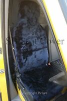 i - TO FIT A MINI CLUBMAN CAR, FRONT S/ COVERS, NAVY BLUE FAUX FUR