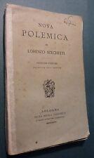 LORENZO STECCHETTI - NOVA POLEMICA - BOLOGNA 1896