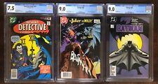 Detective Comics 475 7.5, Batman 366 9.0 + 405 9.0. All CGC! Joker keys!
