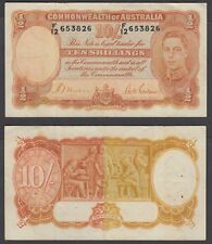 Australia 10 Shillings ND 1938 (VF) Condition Banknote P-25a KGVI Blended Color