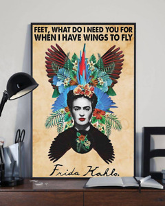 Frida-Kahlo Poster Feet What Do I Need You For Vintage Wall Art Home Decor Gift