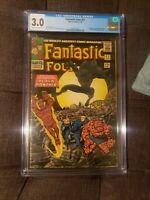FANTASTIC FOUR #52 CGC 3.0 (1966-Silver Age) 1ST APP. OF BLACK PANTHER 1st owner