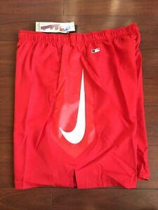 Nike Los Angeles Anaheim Angels Dri-Fit Baseball MLB Shorts Size 2XL XXL NWT'S