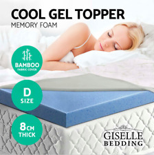 1000 Supporting Points 8CM COOL GEL Memory Foam Mattress Topper BAMBOO Double