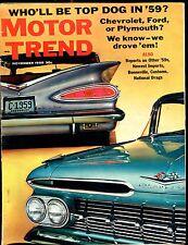 Motor Trend Magazine November 1958 Chevrolet Ford VG No ML 031417nonjhe