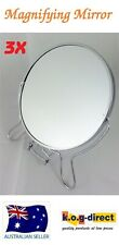 """MAGNIFYING COSMETIC TWO SIDED BATHROOM MIRROR ON STAND 6"""" 3X MAGNIFICATION WL16"""