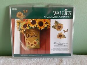 Wallies Wallpaper Cutouts Sunflower Garden 12144