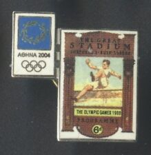 ATHENS 2004. OLYMPIC GAMES. OLYMPIC PIN. POSTER OF LONDON 1908