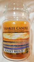 Yankee Candle SUNSET BREEZE Large Jar 22 Oz Orange Housewarmer New Wax