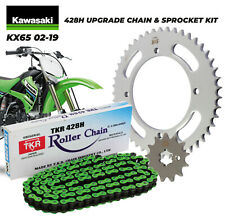 NEW KAWASAKI KX65 02-19 CHAIN FRONT / REAR SPROCKET KIT 428-130 13T/47t  UPGRADE