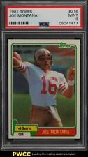 1981 Topps Football Joe Montana ROOKIE RC #216 PSA 9 MINT