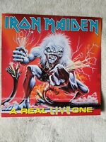 IRON MAIDEN A Real LIVE One 1993 UK vinyl Album gatefold  LP exc