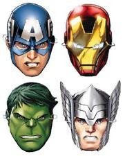 Pack of 6 Kids Marvel Avengers Assemble Cardboard Superhero Party Eyemasks