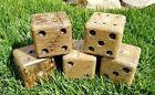 Set of 5 OSB Lawn Dice Yardzee Outdoor Yard Game Layered Plywood Free Shipping