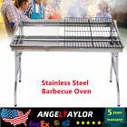 Portable Grill Charcoal | BBQ Folding Shish Kabob Stove Outdoor Camping Barbecue photo