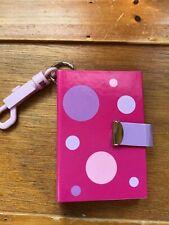 Dots Mini Photo Book Key Chain Back New Seasons Fuchsia with Purple & Pink Polka