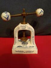 Antique 19th German Porcelain Nutcracker Blue Onion Meissen?